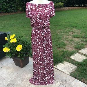 Loft Maxi Dress Worn Off or On Shoulders